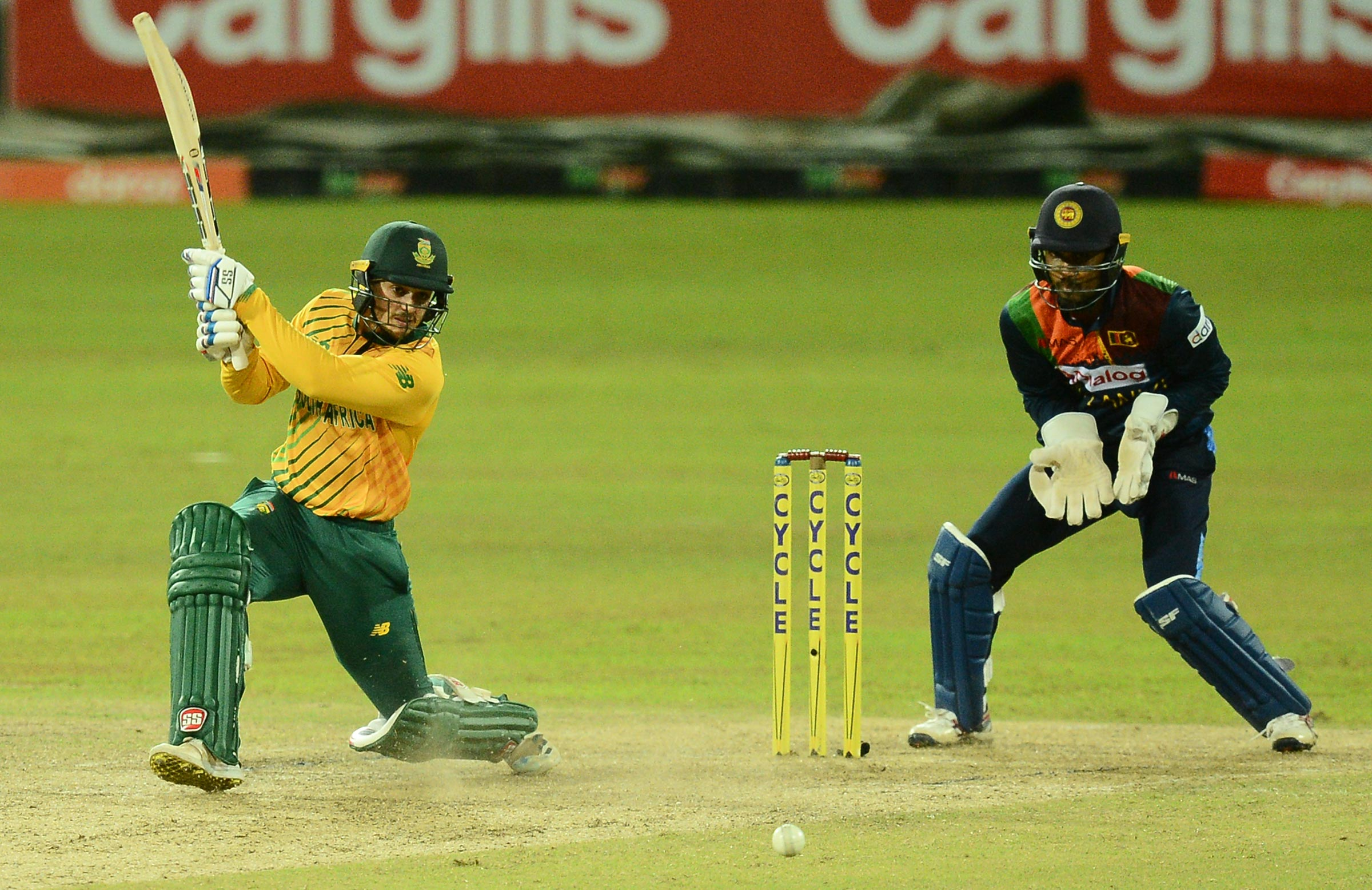 De Kock steered the Proteas home in Colombo /// Getty