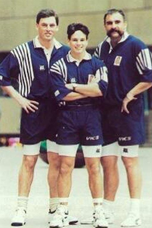 Grown men wearing shorts