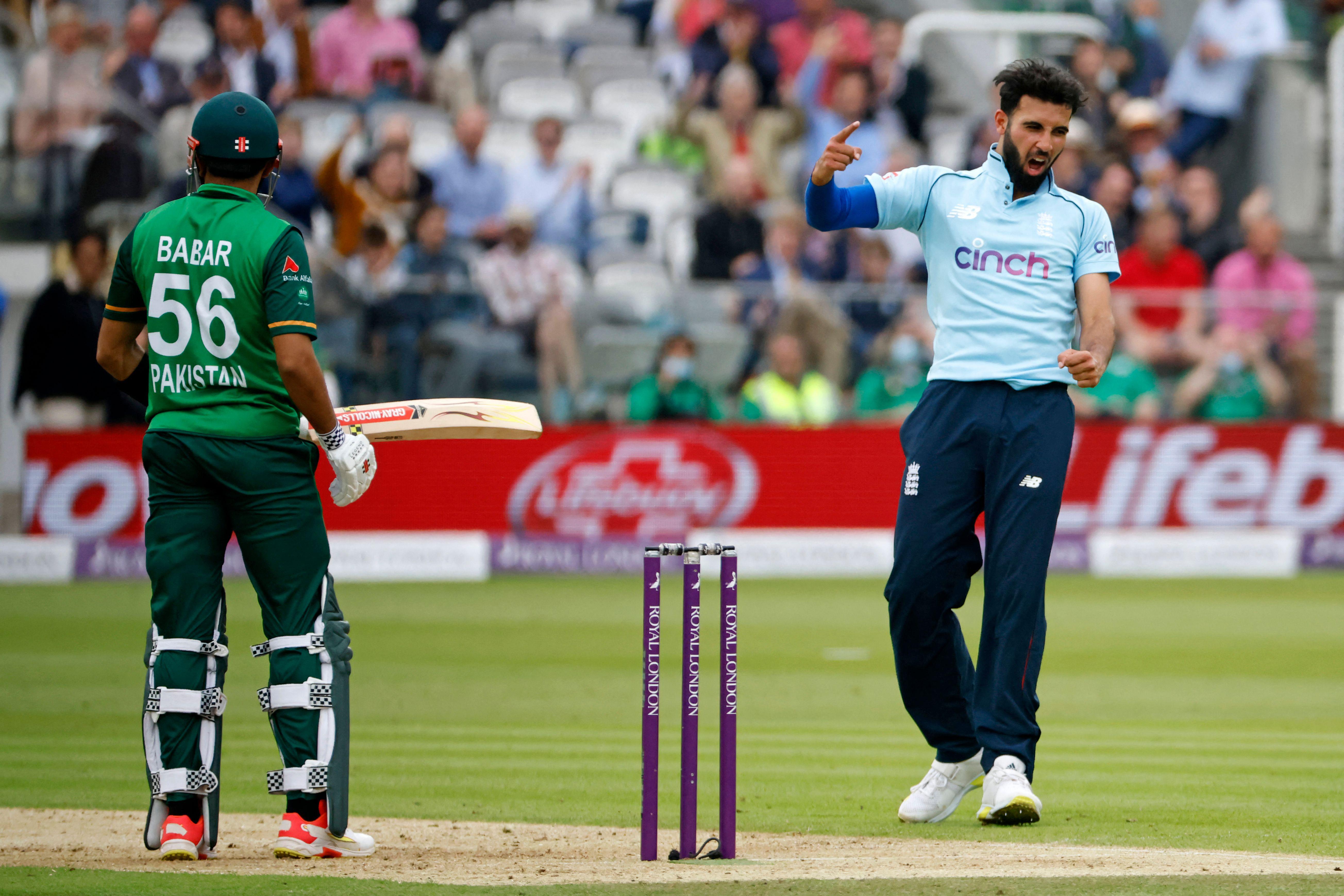 Mahmood dismissed Pakistan star Babar Azam twice in England's 3-0 series win // Getty