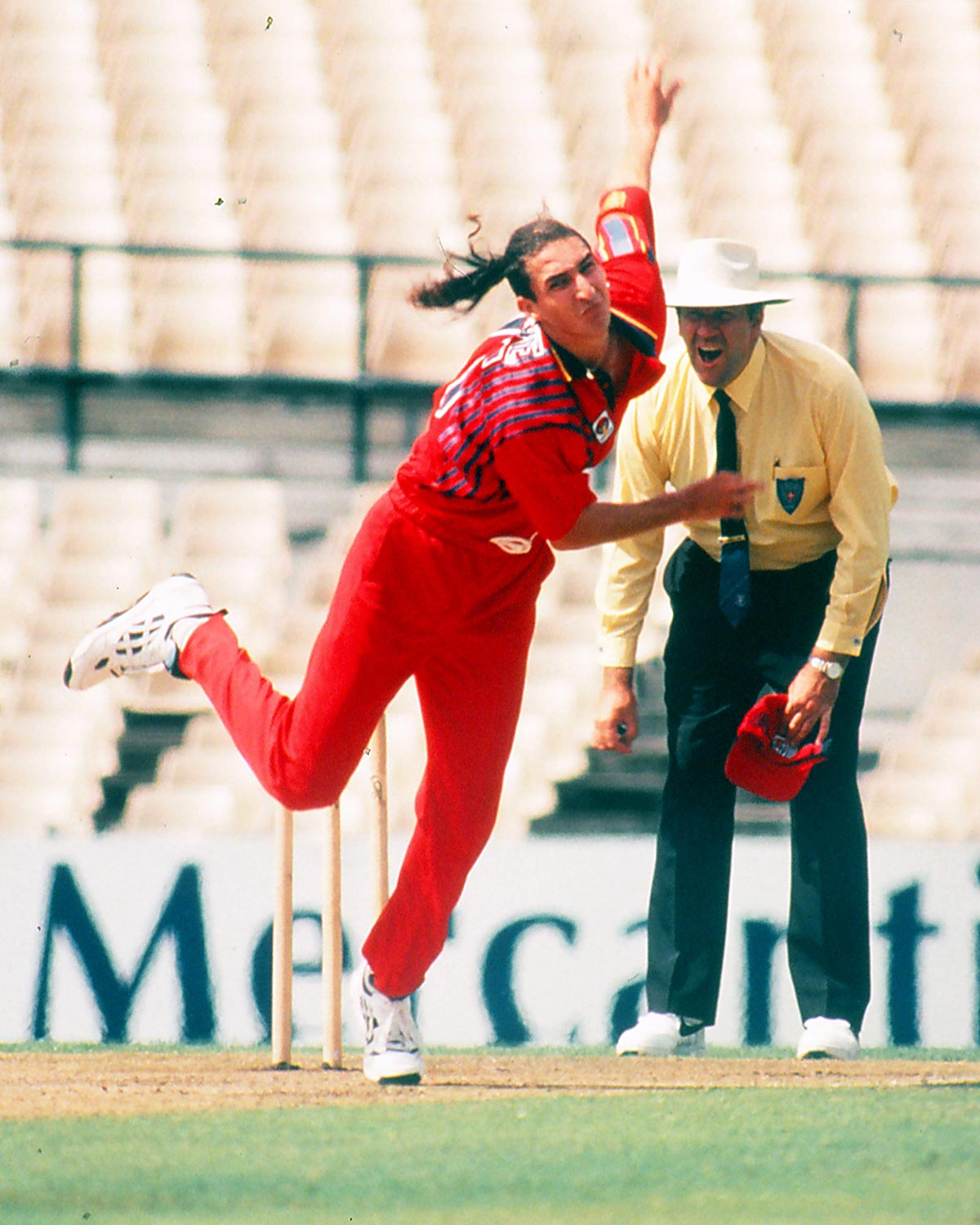Jason Gillespie, with ponytail flying // Getty