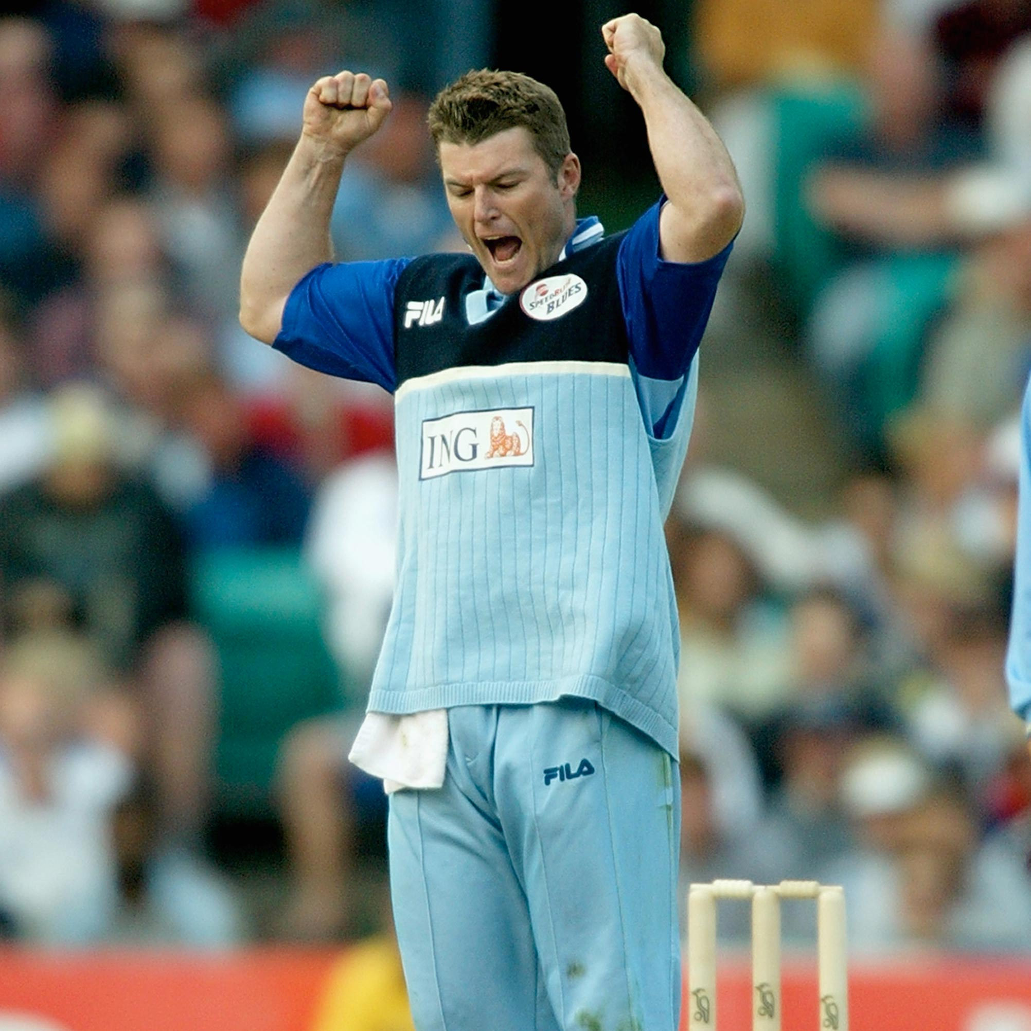 NSW Blues spinner Stuart MacGill celebrates a wicket // Getty