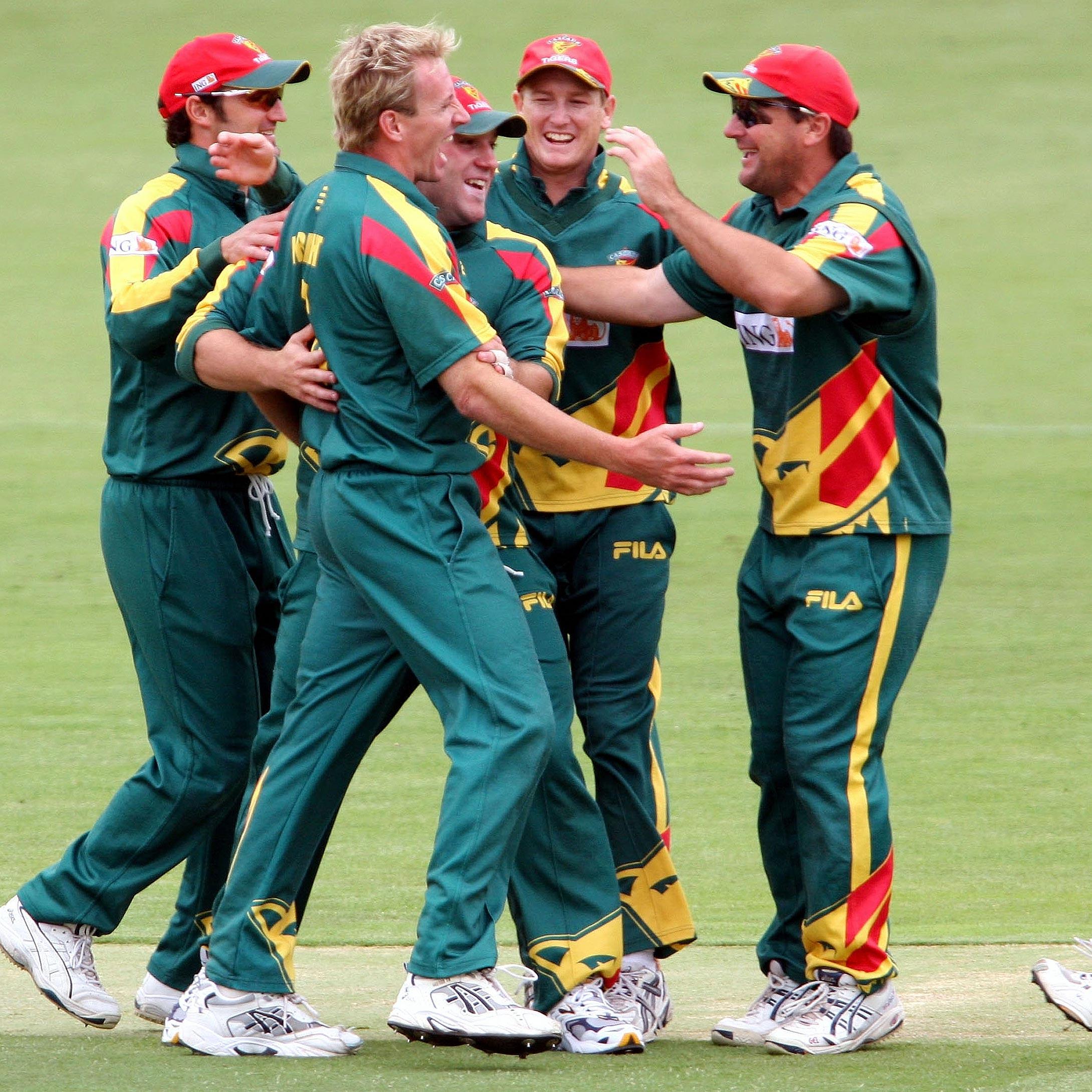 Tasmania's Damien Wright celebrates a wicket // Getty