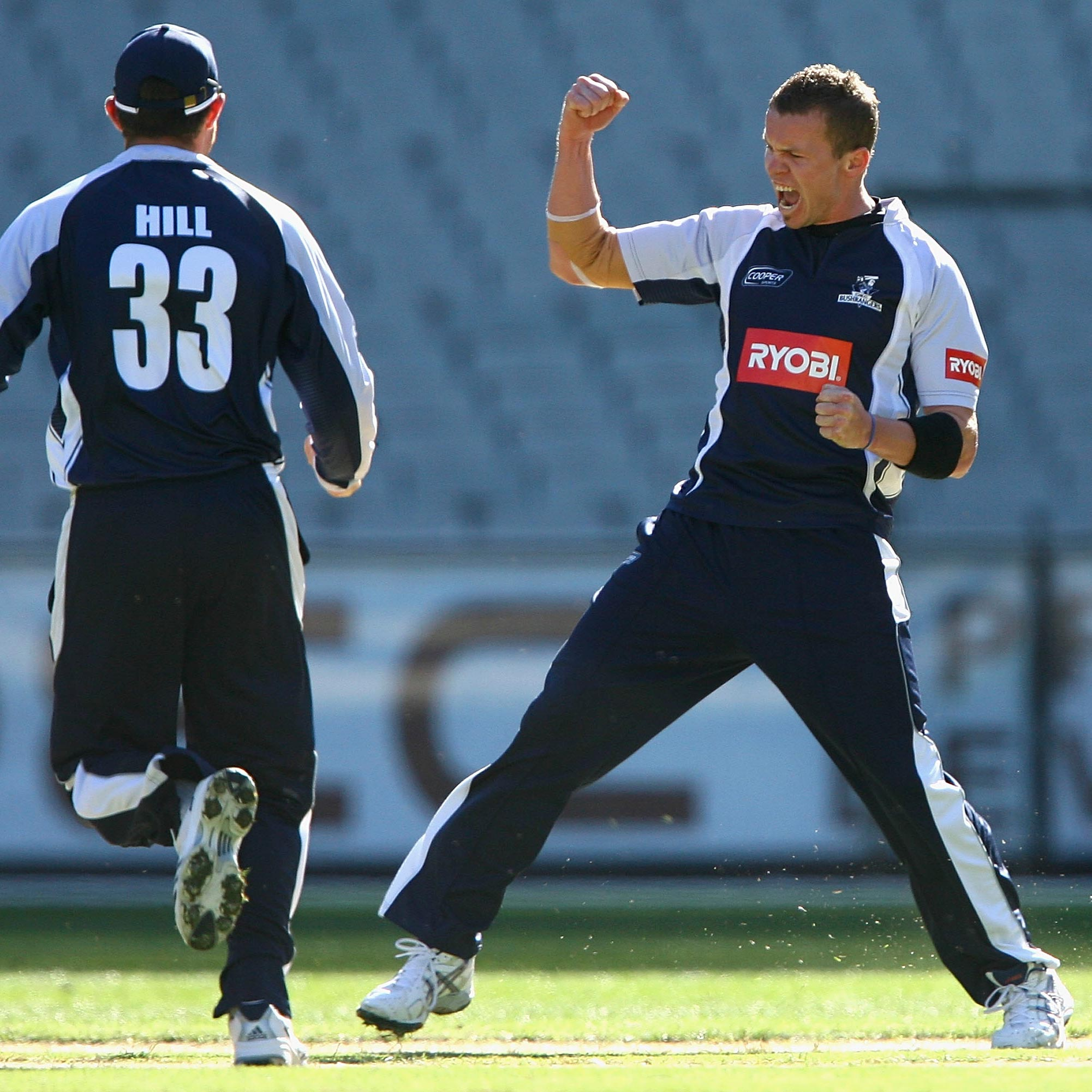 Peter Siddle celebrates a wicket for Victoria // Getty