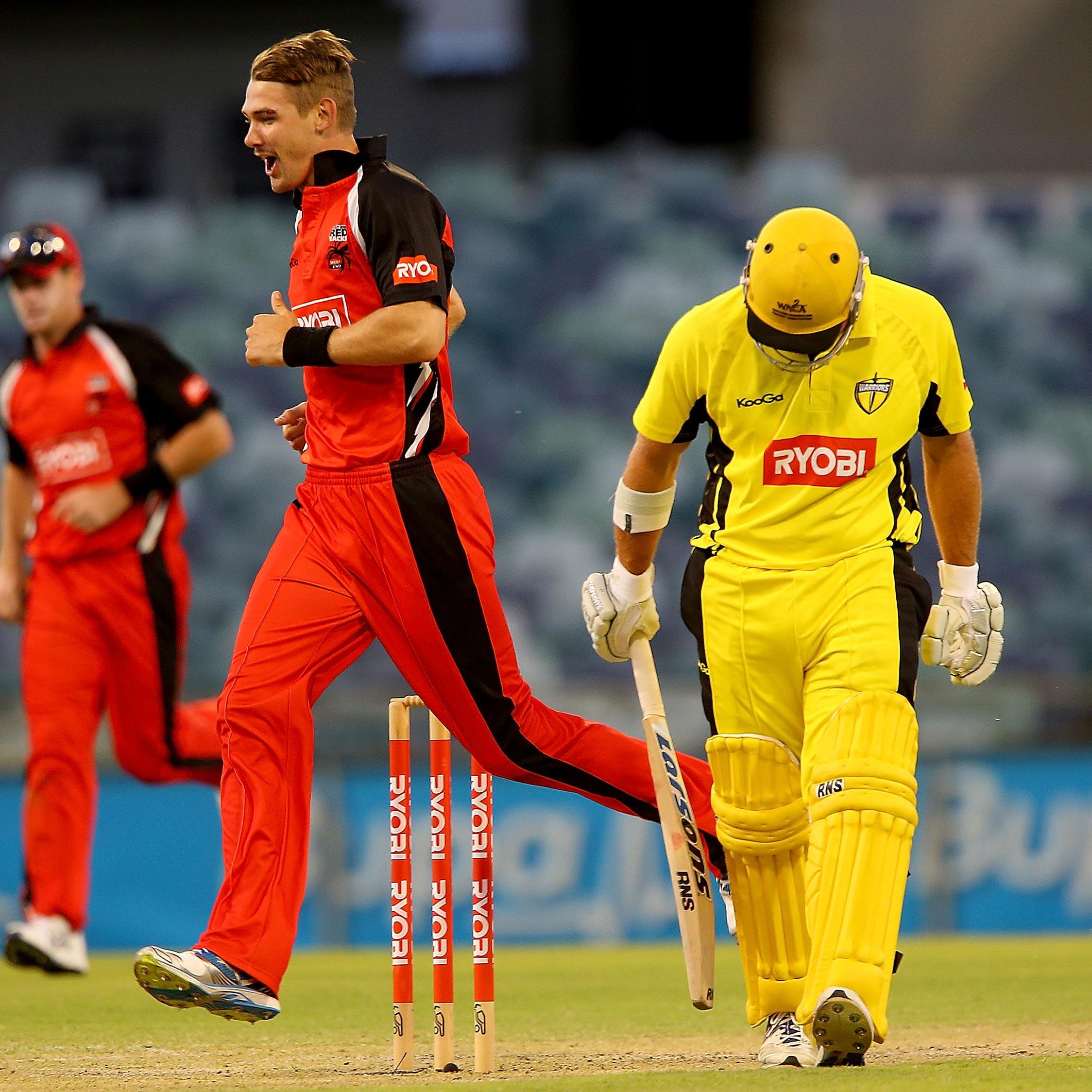 SA's Kane Richardson celebrates a wicket against WA // Getty