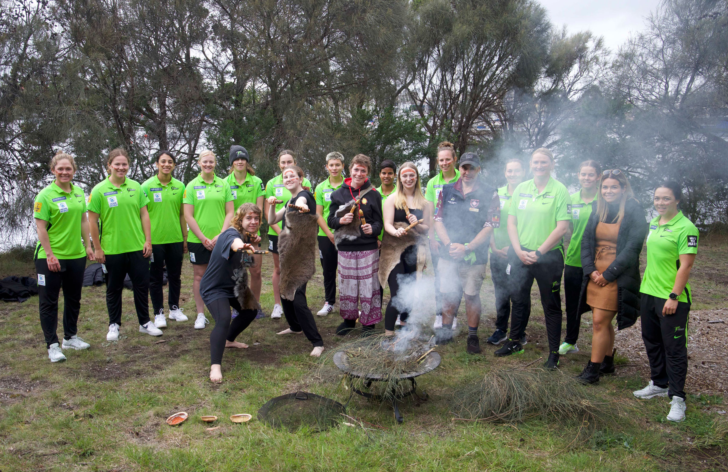 A smoking ceremony was held on the banks of the River Derwent // Supplied